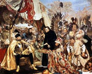 Batory at Pskow - Painting by Jan Matejko