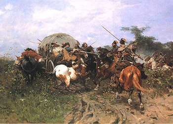 Polish attack on the Swedes