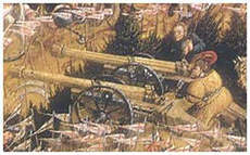 Polish artillery at the battle of Orsza